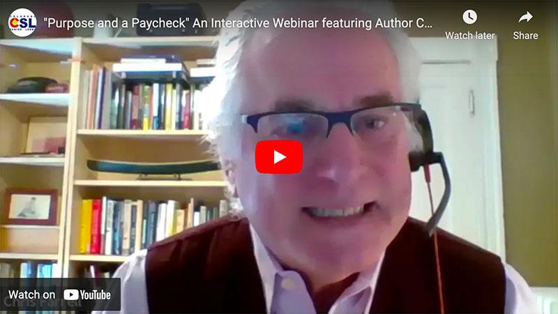 Purpose & A Paycheck Webinar Video